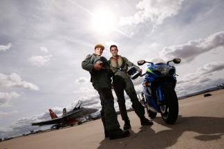 Maverick Viñales at the Zaragoza Military Air Base