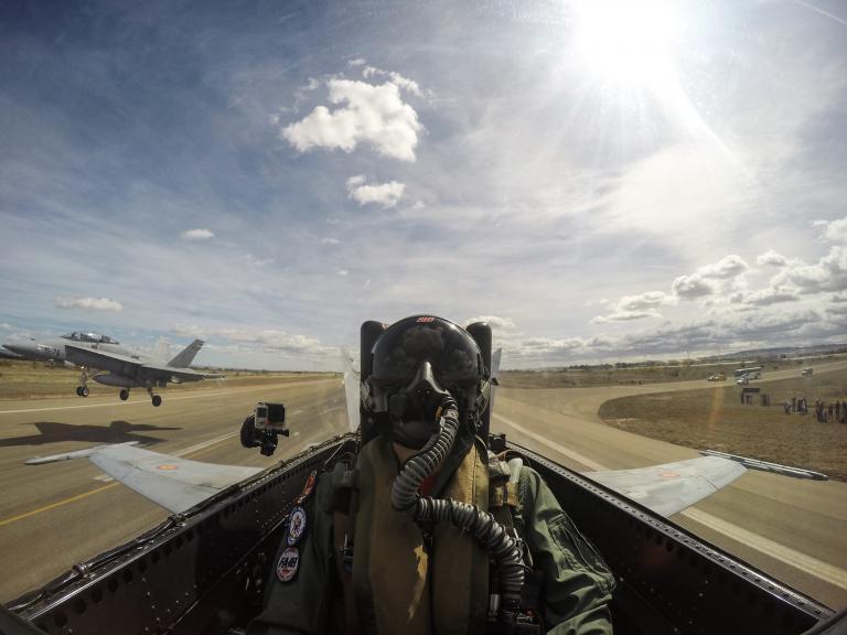 Maverick Viñales at the Zaragoza Military Air Base