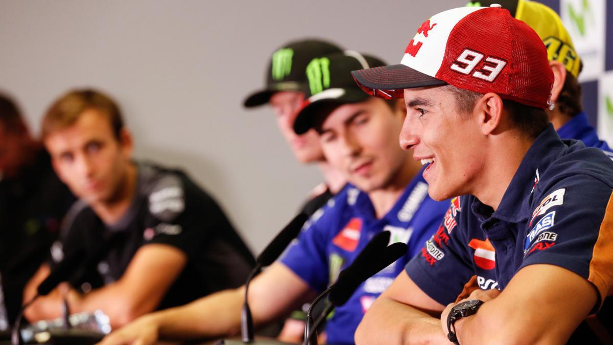 Marquez on Rossi vs Lorenzo