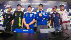 All of the action from the official opening press conference at the #AragonGP.