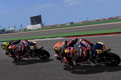 Race in the Rookies Cup in the MotoGP videogame