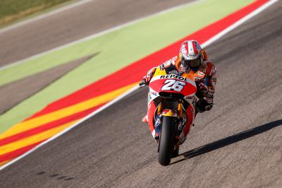 "Pedrosa: ""I had to stay in the garage"""