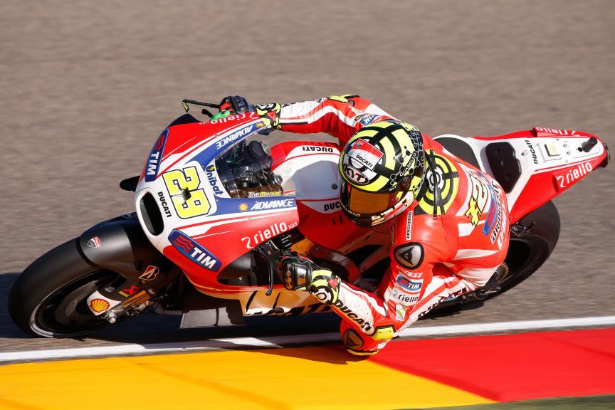 Andrea Iannone, Ducati Team, Aragón GP FP2