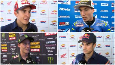 MotoGP™ grid discuss #AragonGP Practice