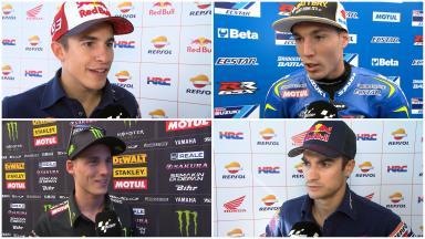 Los pilotos de MotoGP™ hablan de los entrenamientos del #AragonGP