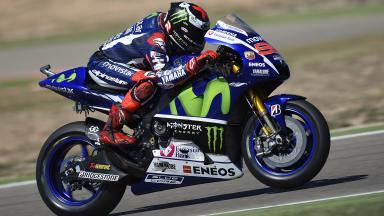 Lorenzo domina la primera jornada en Aragón