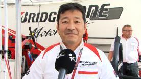 ブリヂストンのモーターサイクルレーシングマネージャー、山田宏がシーズン14戦目のタイヤアロケーションを説明。2日目を振り返り、決勝レースのタイヤ選択を予想する。