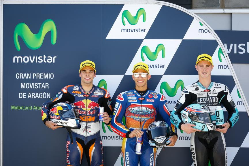 Oliveira, Bastianini, Kent, Red Bull KTM Ajo, Gresini Racing Team Moto3, Leopard Racing, ARA GP QP