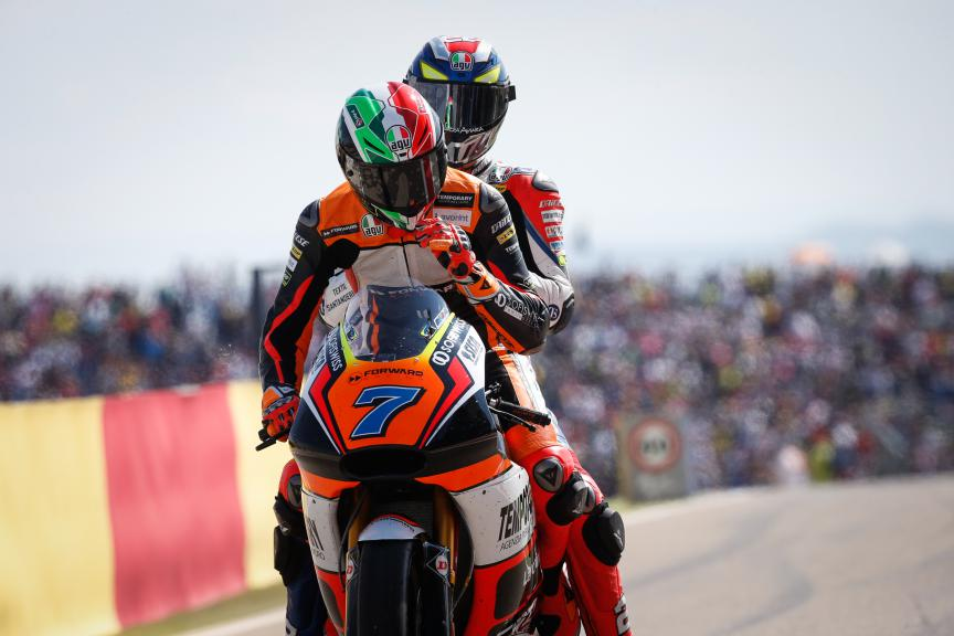 Baldassarri, Corsi, Forward Racing, Aragón GP RACE