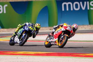 Dani Pedrosa, Valentino Rossi, Repsol Honda Team, Movistar Yamaha MotoGP, Aragón GP RACE