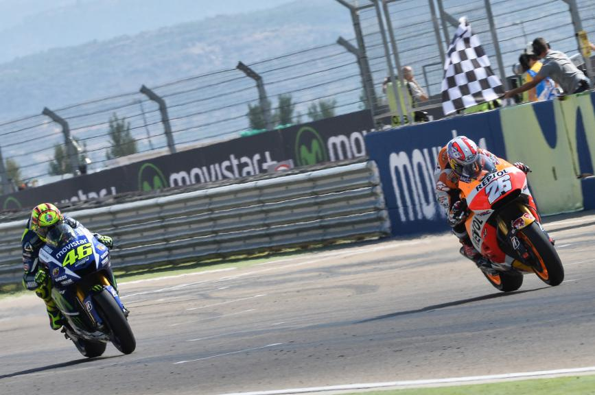 Dani Pedrosa, Valentino Rossi, Movistar Yamaha MotoGP, Aragón GP RACE