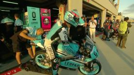 The full Warm Up session for the Moto3™ World Championship at the Aragon GP.