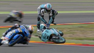 Las caídas en la última vuelta condicionan la carrera de Moto3™
