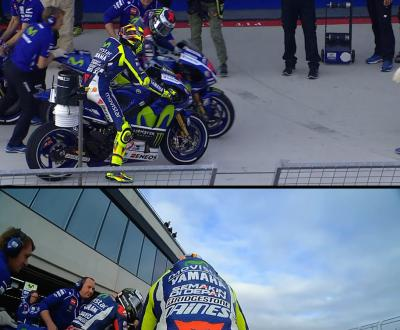 Rossi & Lorenzo's pit lane moment