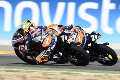 Di Giannantonio shaves victory off Sasaki in Aragon finale