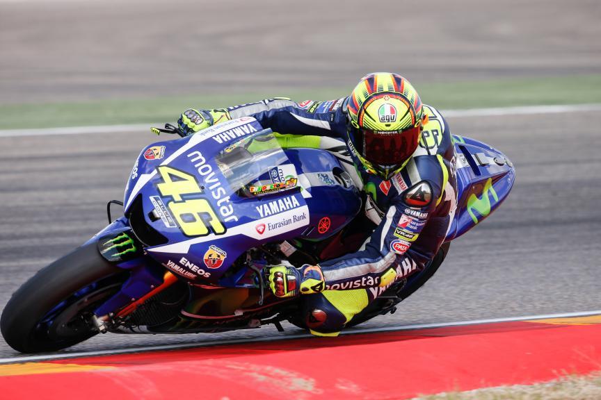 Valentino Rossi, Movistar Yamaha MotoGP, Aragón Test
