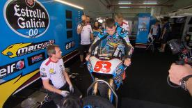 motogp.com catches up with Tito Rabat as he tests a MotoGP machine at MotorLand Aragon.
