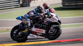 Einige der besten Moto2 & Moto3 Manöver vom Wochenende des #AragonGP.  1. Philipp Oettl (Moto3) - 110 points 2. Livio Loi (Moto3) - 107 points 3. Andrea Migno (Moto3)  - 97 points 4. Romano Fenati (Moto3) - 90 points 5. John MCPHEE (Moto3) - 76 points