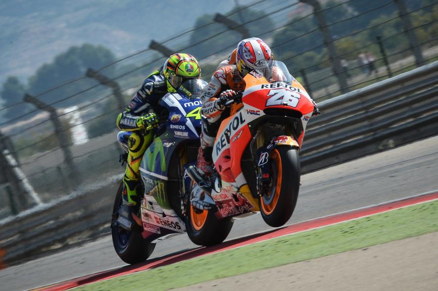 Dani Pedrosa, Valentino Rossi, Repsol Honda MotoGP, Movistar Yamaha MotoGP, Aragón GP