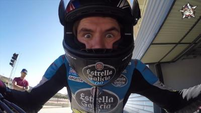 Scott Redding rides Supermoto at Aragon