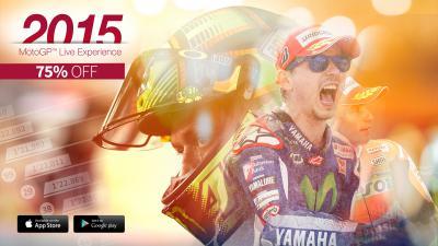 75% sur l'app officielle MotoGP™ Live Experience