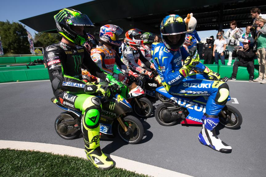 Pre event Japan GP: electronic mini bikes at the Twin Ring Motegi circuit