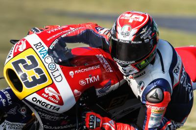 Antonelli sets early pace in Moto3™ FP1