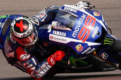 Lorenzo shrugs off shoulder injury to top FP1