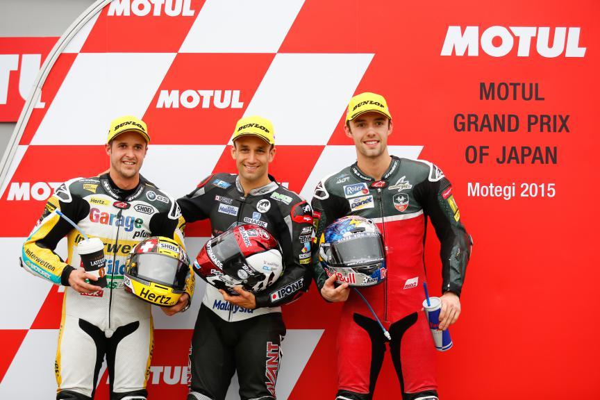 Luthi, Zarco, Folger,  Derendinger Racing Interwetten, Ajo Motorsport, AGR Team, Japanese GP QP