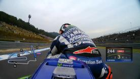 Relive Jorge Lorenzo's pole setting lap at the Twin Ring Motegi, complete with telemetry data.