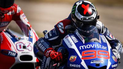 Lorenzo leads the way in red-flagged FP4