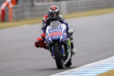 "Lorenzo: ""Unfortunately the track dried up"""