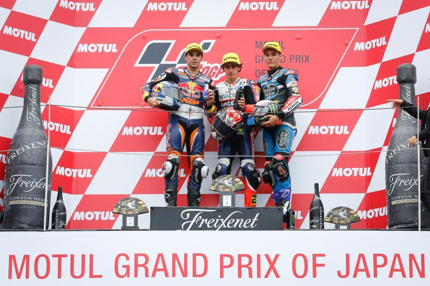 Oliveira, Antonelli, Navarro, Red Bull KTM Ajo, Ongetta-Rivacold, Estrella Galicia 0,0, Japanese GP RACE