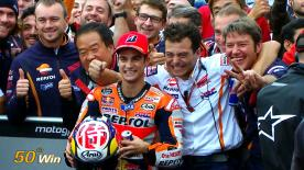 At the Japanese GP Repsol Honda rider Dani Pedrosa takes his 50th career victory.