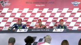 The fastest MotoGP riders from the race talk to the press about the results.