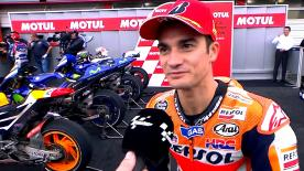 Pedrosa said he had no feeling at the start of the race, but he saved his tyres and in the end his pace won out.