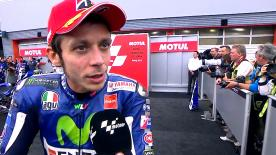 Valentino said it was a difficult race, with a lot of opportunity for error, but in the end he was happy with his result.