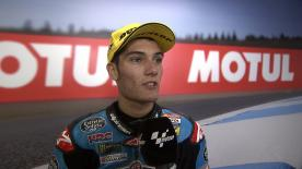 The Estrella Galicia 0,0 rider gets the second consecutive podium of his career.