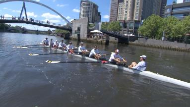 Riders learn Melbourne's Yarra River with Richmond Rowing