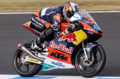 Oliveira, primero en la FP1 de Moto3™ en Phillip Island