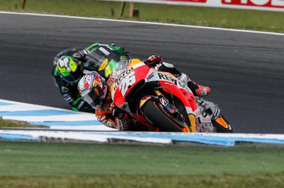 "Pedrosa: ""We tested the asymmetrical front tyre"""