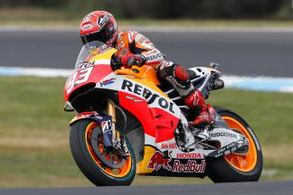 Marquez sets pace on opening day at Phillip Island