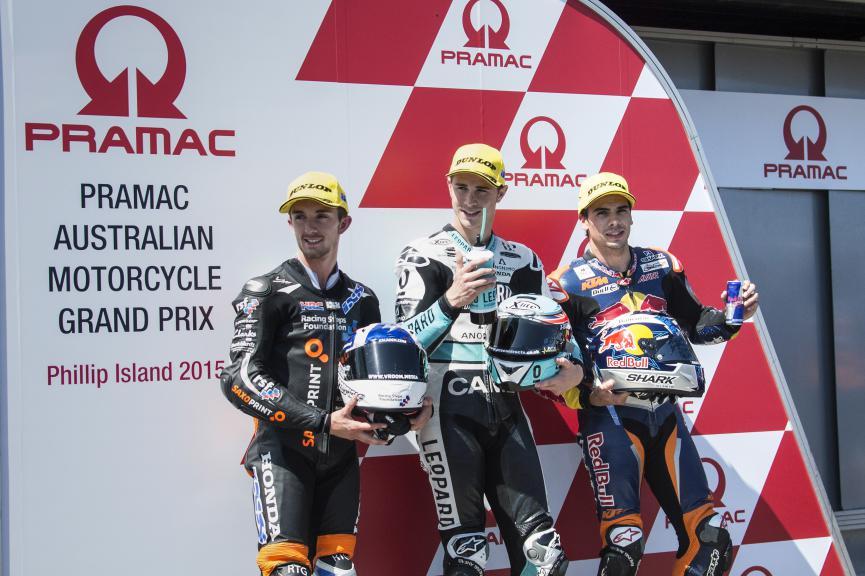 Mc Phee, Kent, Oliveira, Saxoprint RTG, Leopard Racing, Red Bull KTM Ajo, Australian GP QP