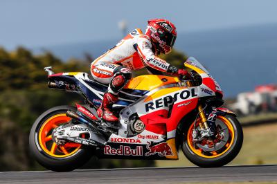 Marquez sets blistering pace in FP4