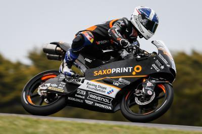 McPhee partirá primero en la carrera de Moto3™