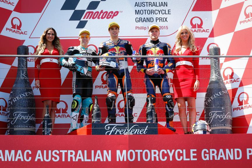 Vazquez, Oliveira, Binder, Leopard Racing, Red Bull KTM Ajo, Australian GP RACE