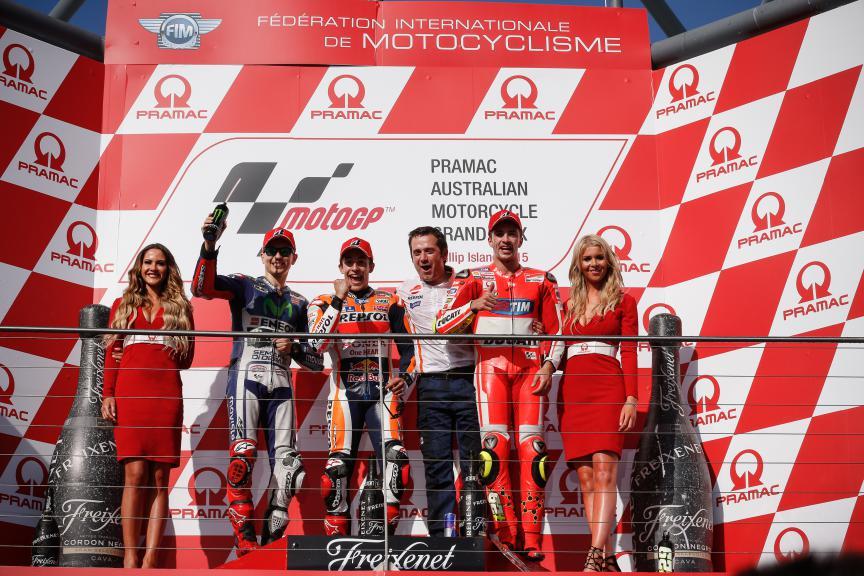 Lorenzo, Marquez, Iannone, Movistar Yamaha MotoGP, Repsol Honda Team, Ducati Team, Australian GP RACE