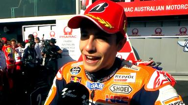 Marquez: 'Non credevo di poter prendere Jorge'