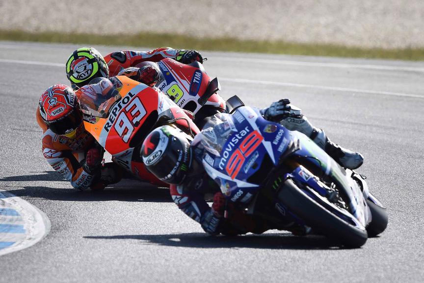 Lorenzo, Marquez, Iannone, Movistar Yamaha MotoGP, Repsol Honda Team, Ducati Team