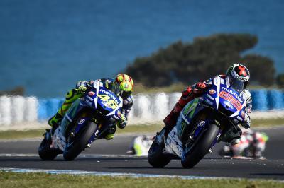 Rossi y Lorenzo se preparan para la penúltima batalla